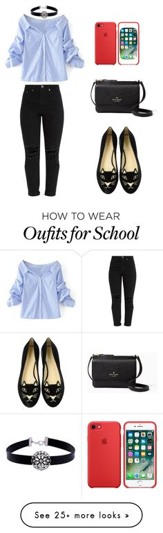 """""""Outfit for School/Campus"""" by salbiylaazzara-fashion on Polyvore featuring WithChic, Charlotte Olympia and Kate Spade"""