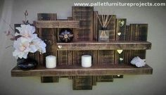 shelf made with pallets