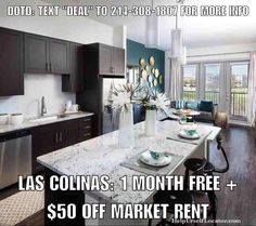"""Deal of the Day: LAS COLINAS: 1 MONTH FREE  $50 OFF MARKET RENT. Apartment is paying 100% of 1 months rent as commission 1/2 of which is urs as a thank you for using our services. Live in the heart of Las Colinas with all the amenities close to a number of restaurants and great shopping. Golf near by too. Units start at $1075.  Don't forget to put down """"Help Urself Leasing"""" when filling out ur lease application to get back 50% of the commission we earn from ur referral. Check out our website…"""