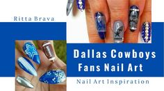 Dallas Cowboys Nail Art - Nail Designs for Dallas Cowboys Fans nails, NFL, NFL nails, NFL nail art, Dallas Cowboys, Dallas Cowboys nail art, Dallas Cowboys Nails, Dallas Cowboy Nail designs, Dallas Cowboys NFL, football nails, football nail art, football nail tutorial, football nail designs, football, art, football nail art tutorial, football nail art designs, Dallas Cowboys Fan Nails Art Design, Dallas Cowboys - Decoracion de Uñas, Sunday Football: Dallas Cowboys