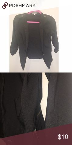 Charlotte Russe Black stretchy blazer Black blazer fits size small. Charlotte Russe Jackets & Coats Blazers