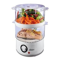 Oster NEW Double-Tiered Food Steamer Cooker 2 Steaming Bowls Bowl Cook Steam Pot Home Design, Electric Food Steamer, Healthy Cooking, Healthy Eating, Cooking Tips, Cooking Websites, Cooking Food, Eating Clean, Cooking Utensils