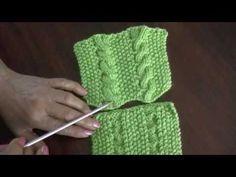 Trenzas o cuerdas simples revesibles en dos agujas