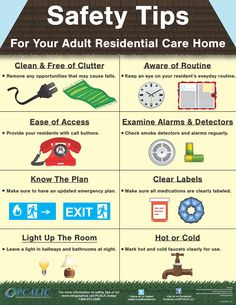 Safety Tips for your adult residential care homes and facilities