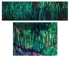 Exposición Begoña Ramos – El Bosque un lugar – The Art Gallery Tapestry, Night, Artwork, Home Decor, Labyrinths, Woods, Bouquets, Impressionism, Exhibitions