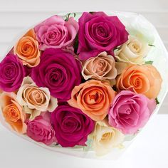 Postal Mixed Roses #nextflowers  colorful