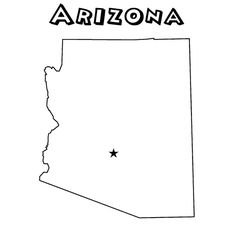 Arizona Maps And State Outline On Pinterest