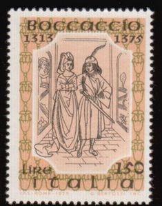 Literary Stamps: Boccaccio, Giovanni (1313 - 1375)