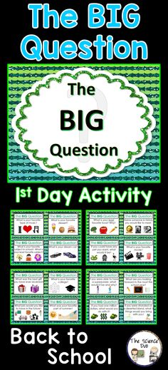 "The BIG Question game is a Back to School ""ice breaker"" activity. This game is perfect for getting your students moving around the room and interacting with one another. Use this activity to help your students learn about their classmates. The teacher can even participate!"