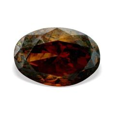 Red diamond 1 25 CTW Beautiful Cognac Red Color SI2 Clarity Oval Shape Loose Natural Diamond | http://www.diamondzul.com