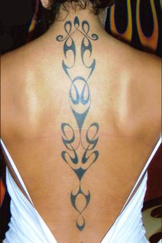 Tattoo spine back