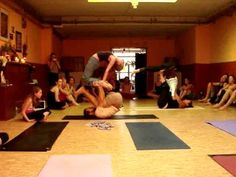 demonstration @ the workshop in Amsterdam svahayoga may 2007