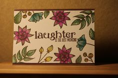 Card made with stamps from Altenew and zig clean color real brush marker