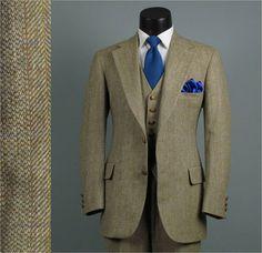 Vintage Mens Suit 1970s AUSTIN REED Preppy by jauntyrooster, $199.00
