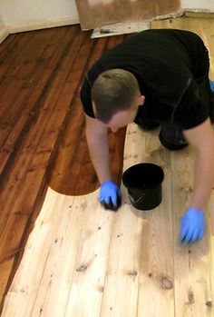 Inexpensive wood floor that looks like a million dollars do it how to stain a wooden floor like a pro solutioingenieria Choice Image