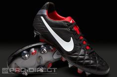 Mens Football Boots - Nike Tiempo Legend IV SG Pro - Soft Ground - Soccer Cleats - Black-White-Red