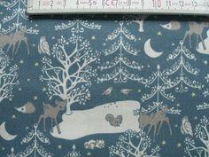 05 m Printed cotton fabric  Kitzbühel Rehe 150 by FreuleinStephi, €8.00
