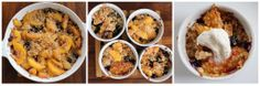 Peach-blueberry cobbler with vanilla quadratini wafers and candied ginger #PureIngredients