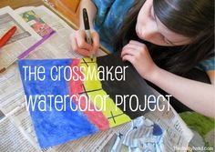 The Crossmaker~ Easter story + #Art lessons. Perfect for #homeschool or #afterschool and multiple ages working together. {by See The Light}
