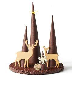 Chocolate Christmas Gifts, Chocolate Tree, Chocolate Pastry, How To Make Chocolate, Hot Chocolate, Christmas Cookies, Chocolates, Cake Receipe, Chocolate Garnishes