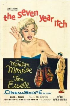 Marilyn Monroe movie poster for the film The Seven Year Itch, starring Tom Ewell . Old Movie Posters, Classic Movie Posters, Cinema Posters, Classic Movies, Art Posters, Illustrations Posters, Cinema Tv, Films Cinema, Marilyn Monroe Movies