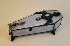 stain glass, cool idea for a trinket box!