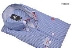 Overhemd Culture blauw/streep