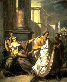 Capurnia Pisone and Caesar: the premonition. Calpurnia dreamed that her husband had been murdered but ... [Italian translation]