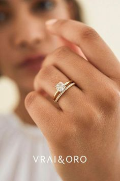 Engagement Ring Rose Gold, Dream Engagement Rings, Engagement Ring Cuts, Diamond Wedding Bands, Solitaire Engagement, Wedding Ring Gold, Wedding Ring With Band, Affordable Engagement Rings, Gold Diamond Wedding Band