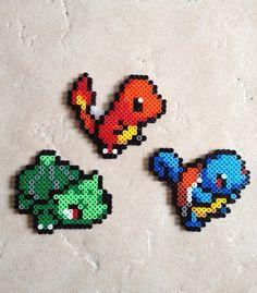 Pokemon Generation 1 Starters Set - Bulbasaur, Charmander, Squirtle