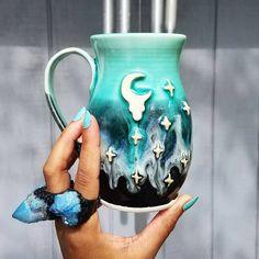 Moon Mug // Crescent moon ceramics