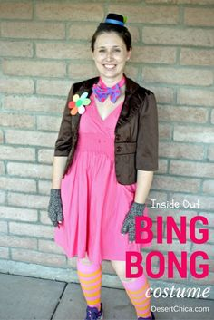 DIY Bing Bong costume from Inside Out