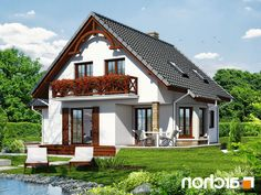 Дом в тамарисках - Проект ARCHON+ Traditional House, Home Fashion, My Dream Home, Gazebo, House Plans, Outdoor Structures, Cabin, How To Plan, House Styles