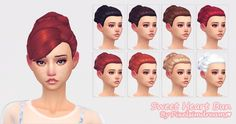 Sweet Heart Bun at Pixelsimdreams via Sims 4 Updates