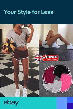 60e9490be UK Womens Sport Cycling Shorts Ladies Summer Gym Sport Short Hot Pants Size  6-16