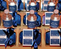 Wedding Favor Idea - A Hangover Helper Kit! By Wedding Ideas. AND IT'S BLUE!!