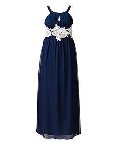 AX Paris Crochet Lace Maxi Dress   Simply Be