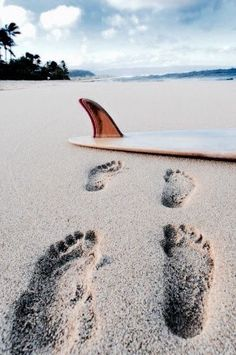 footsteps in the sand :)