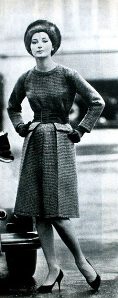 1962 Tweed dress Christian Dior