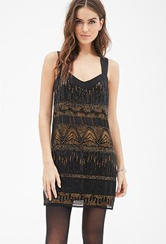 Abstract Sequined Sheath Dress | LOVE21 - 2000099543 *would have been perfect for last year's Gatsby-themed Christmas dance