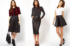Tendencias: la falda de cuero