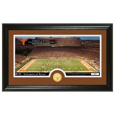 """Texas Longhorns Highland Mint 15"""" x 22"""" Panoramic Photo Mint with Bronze Coin - $59.99"""