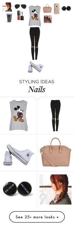 """""""Put your hearts up """" by sarahballerina01 on Polyvore featuring Topshop, Converse, Givenchy, Ray-Ban, Agent 18 and Smashbox"""