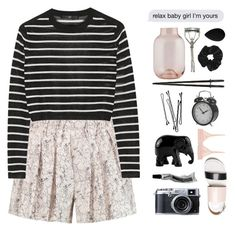 """""""Relax baby girl I'm all yours"""" by yungfreshprincess ❤ liked on Polyvore featuring rag & bone, TIBI, The Elephant Family, La Perla, BOBBY, House Doctor, Japonesque, Topshop, beautyblender and printedshorts"""