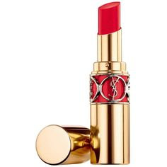 Yves Saint Laurent Rouge Volupte Shine Oil-in-Stick Lipstick, The... ($37) ❤ liked on Polyvore featuring beauty products, makeup, lip makeup, lipstick, orange tournon, rose marceau, rouge spencer, lip gloss makeup, glossy lipstick and shiny lipstick