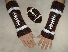 Crochet Pattern Name: Toy Football and Matching Leg Warmers Pattern by: Cathy Ren