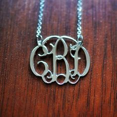 Stylish Monogram Necklace in Sterling Silver5