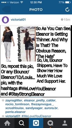 She's getting skinny & the bruises she has. I'm getting really worried #WeLoveYouEleanor