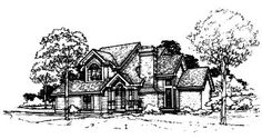 Another simple plan idea.  I like it. French Country Style House Plans - 1905 Square Foot Home , 2 Story, 4 Bedroom and 2 Bath, 2 Garage Stalls by Monster House Plans - Plan 15-192