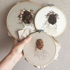 Grand Sewing Embroidery Designs At Home Ideas. Beauteous Finished Sewing Embroidery Designs At Home Ideas. Embroidery Hoop Crafts, Hand Embroidery Stitches, Silk Ribbon Embroidery, Modern Embroidery, Hand Embroidery Designs, Embroidery Art, Creative Embroidery, Embroidery Supplies, Embroidery Needles